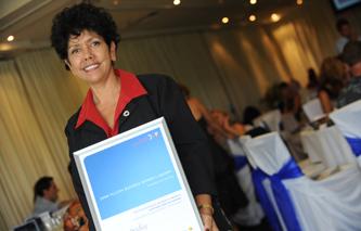 Yvonne Bradley at the 2009 Telstra Business Women's Awards in Darwin.