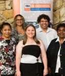 Scholarship recipients acknowledged at the IBA dinner were: (Front L:R) Janita Chapman, Charmaine Munro, Sharon Brady. (Back L:R) Ross Andrews, Kalina Morgan-Whyman, Sam Raciti, Yvette Carolin.