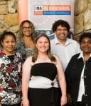 Scholarship recipients acknowledged at the IBA dinner were: (Front L:R) Janita Chapman, Charmaine Munro, Sharon Brady. (Back L:R) Ross Andrews, Kalina Morgan-Whyman, Sam Raciti, Yvette Carolin.