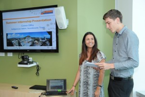 Interns Connor and Breeana sharing insights into their placement with IBA.